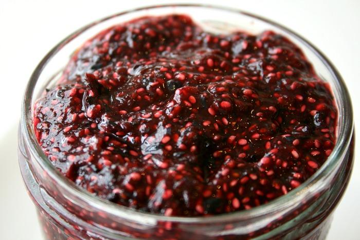 Raw Blueberry-Blackberry Chia Jam on Shockingly Delicious