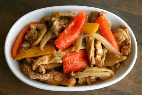 Slow Cooker Mexican Chicken Fajitas on ShockinglyDelicious