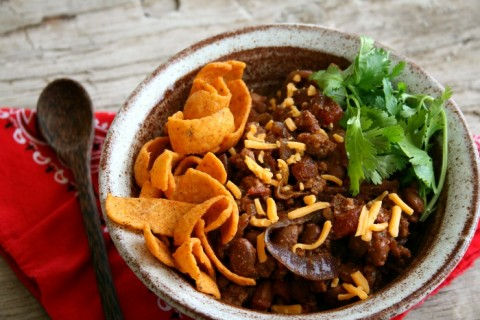 Healthier Santa Fe Frito Pie on Shockingly Delicious
