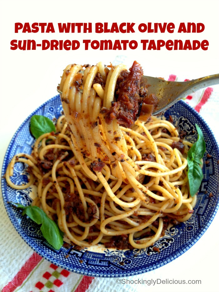 sun dried tomato tapenade pasta