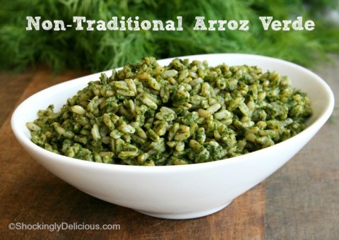 Non-Traditional Arroz Verde on Shockingly Delicious