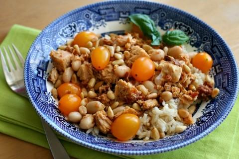 Sun-Dried Tuna Italian Rice Bowl on Shockingly Delicious