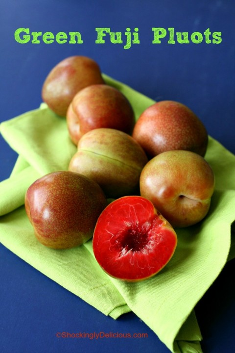 Green Fuji Pluots on Shockingly Delicious