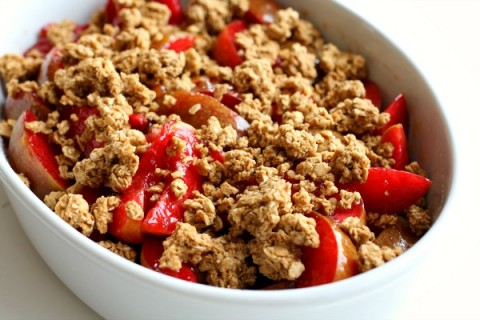 Three-Ingredient Pluot Crisp on Shockingly Delicious