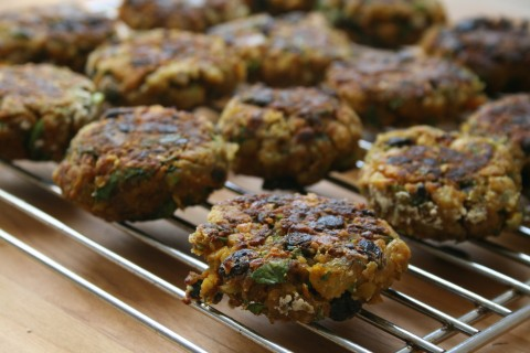 Vegetarian Chickpea Carrot Cilantro Curry Patty on Shockingly Delicious