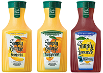 New Simply Orange juice blends on Shockingly Delicious