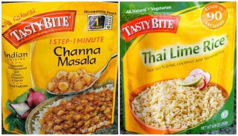 Tasty Bite Channa Masala and Thai Lime Rice
