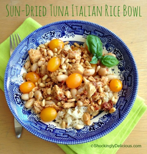 Sun-Dried Tuna Italian Rice Bowl on Shockingly Delicious