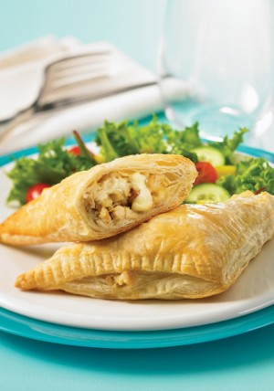 Chicken Brie and Apple Turnovers on Shockingly Delicious