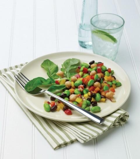 Edamame Salad on Shockingly Delicious