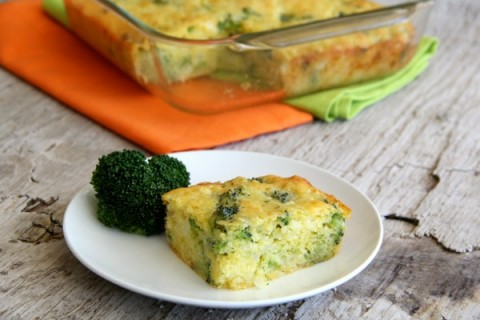 Broccoli Cornbread on Shockingly Delicious