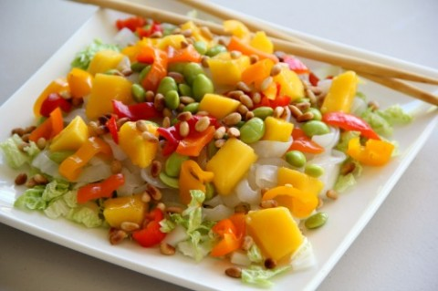 Do-It-Yourself Asian Noodle Salad on Shockingly Delicious