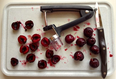 Cherry pitting on Shockingly Delicious
