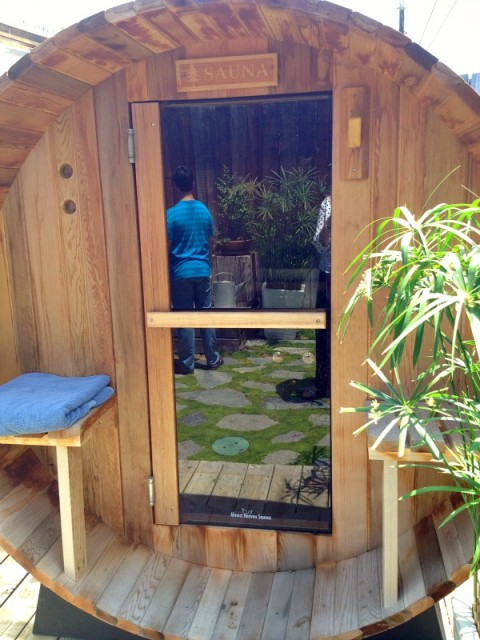 Stefan Richter's back yard sauna on Shockingly Delicious