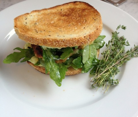 Fish Sandwich with Herbed Aioli on Shockingly Delicious