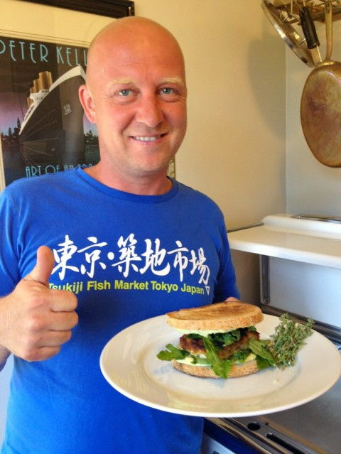 Herbed Aioli Fish Sandwich by chef Stefan Richter on Shockingly Delicious