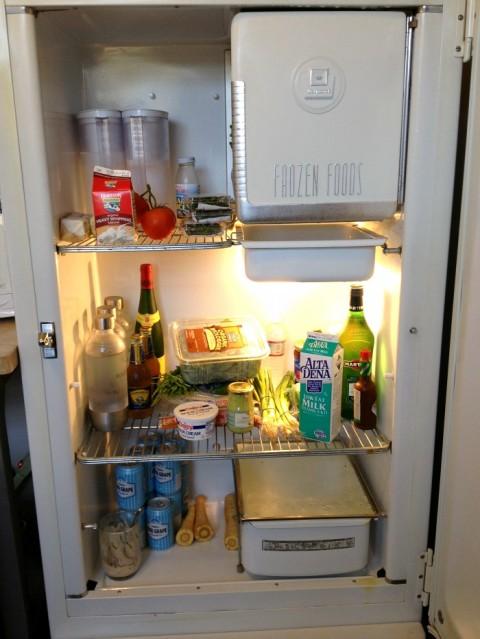 Chef Stefan Richter's refrigerator on Shockingly Delicious