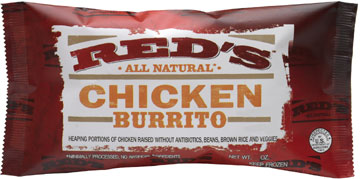 Red's Chicken Burrito on Shockingly Delicious