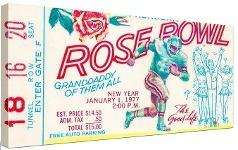 Rose Bowl USC Trojans vs Michigan Wolverines 1977