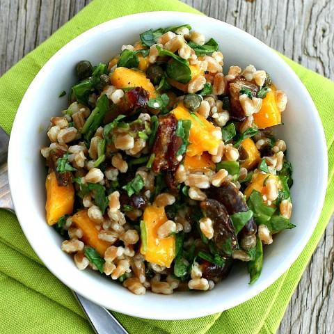 Farro Date Salad