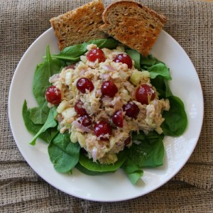Sweet Hot Tuna Salad with Grapes on Shockingly Delicious. Not Your Mother's Tuna Salad!