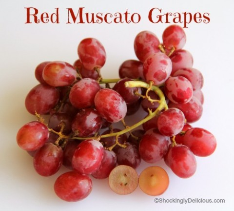 Red Muscato Grapes on Shockingly Delicious