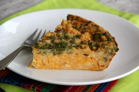 Impossible Quesadilla Pie on Shockingly Delicious