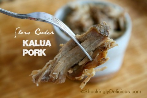 Slow Cooker Hawaiian Kalua Pork on Shockingly Delicious