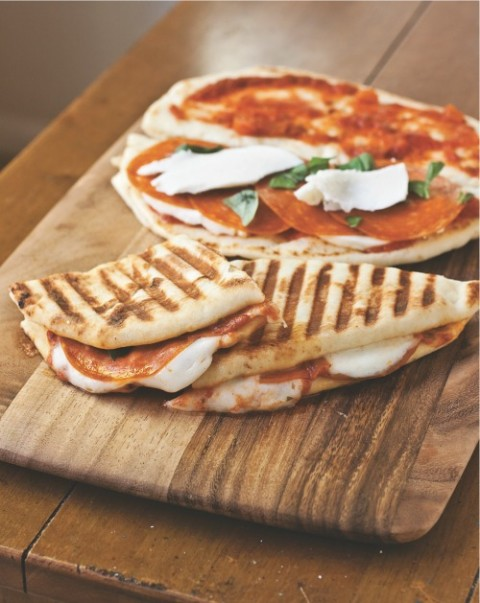 Pepperoni Pizza Panini on Shockingly Delicious