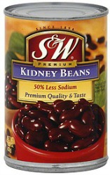 S&W 50 Less Sodium Kidney Beans
