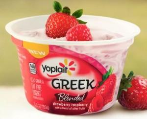 Yoplait Greek Blended Strawberry Raspberry Yogurt