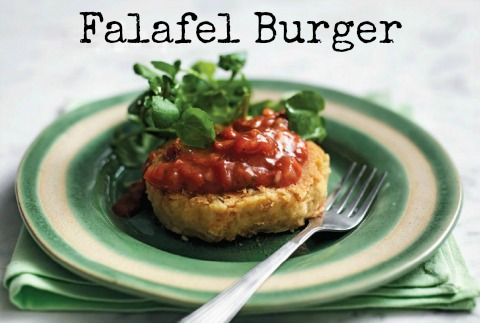 Falafel Burgers on Shockingly Delicious