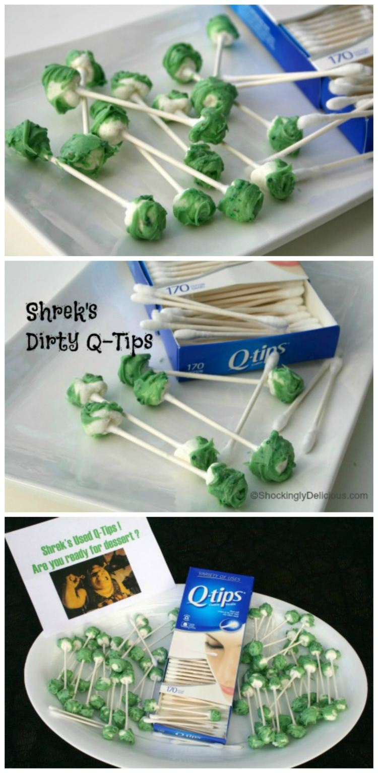 How to make Shrek's Dirty Q-Tips for Halloween on ShockinglyDelicious.com