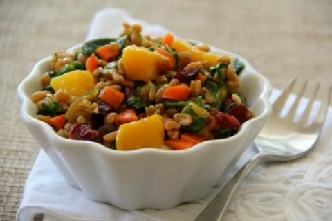 Confetti Farro Salad on Shockingly Delicious