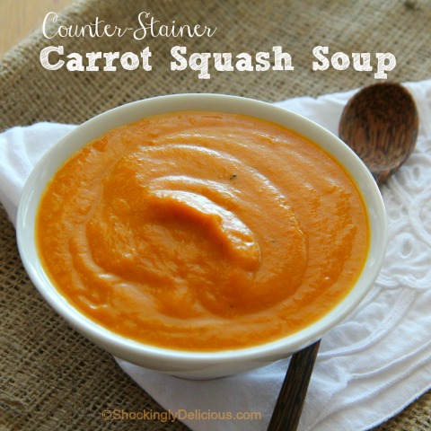 Counter-Stainer Carrot Squash Soup on Shockingly Delicious