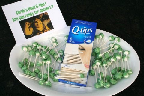 Shrek's Dirty Q-Tips for Halloween on Shockingly Delicious