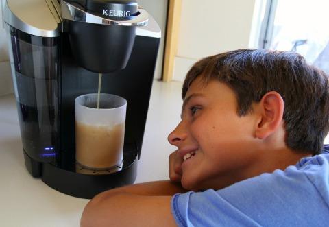Keurig machine captivates kids on Shockingly Delicious