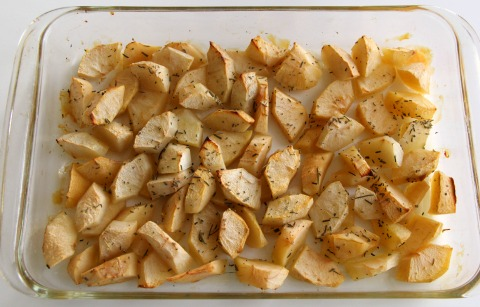 Oven-Roasted Applesauce Scented with Rosemary and Vanilla   www.ShockinglyDelicious.com