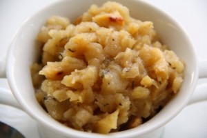 Oven-Roasted Applesauce Scented with Rosemary and Vanilla | www.ShockinglyDelicious.com