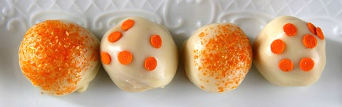 Dreamsicle Oreo Cookie Balls | www.ShockinglyDelicious.com