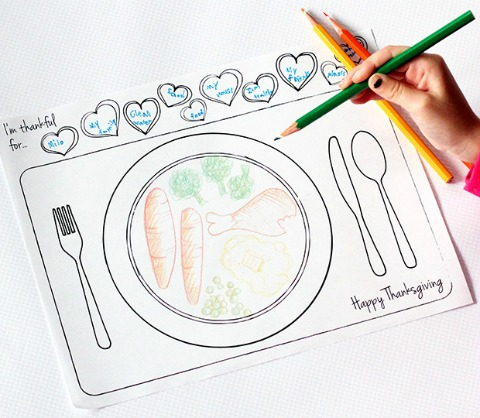 Thanksgiving Printable Placemat for Kids by Dabbles & Babbles