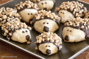 Baby HedgeHog Cookies from She Paused 4 Thought