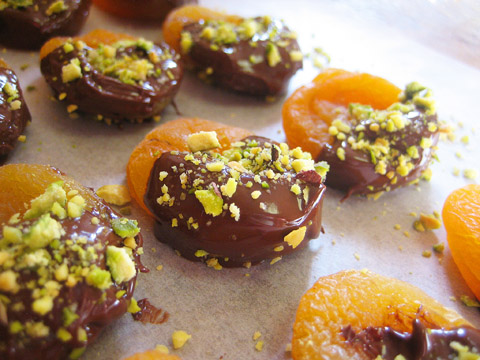 Chocolate Covered Apricots from Lentil Breakdown