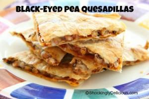 Black-Eyed Pea Quesadillas | Shockinglydelicious.com