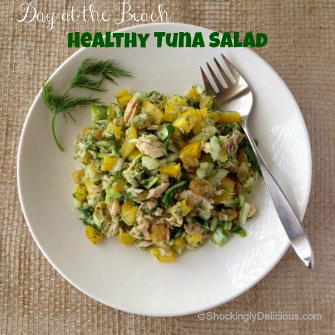 Healthy Tuna Salad | www.ShockinglyDelicious.com