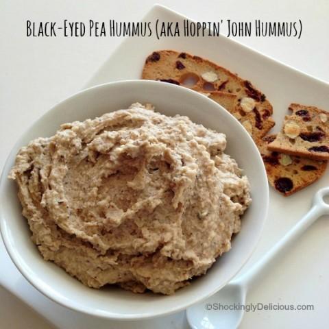 Black-Eyed Pea Hummus (Hoppin' John Hummus) | www.ShockinglyDelicious.com