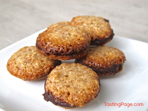Mini Chocolate Nut Sandwich Cookies from Tasting Page