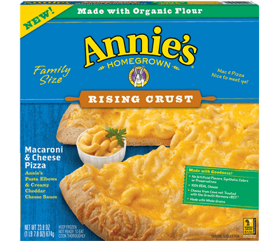 Annie's Mac & Cheese Pizza on Shockingly Delicious