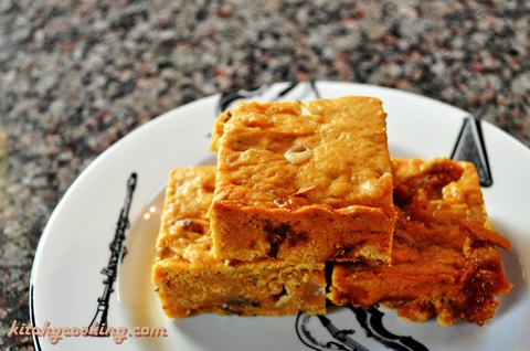 Sweet Potato Marshmallow Bars with White Chocolate Chips by Kitchy Cooking