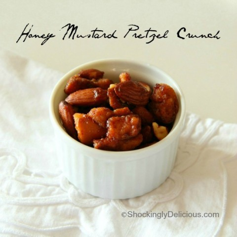 Honey Mustard Pretzel Crunch | www.ShockinglyDelicious.com